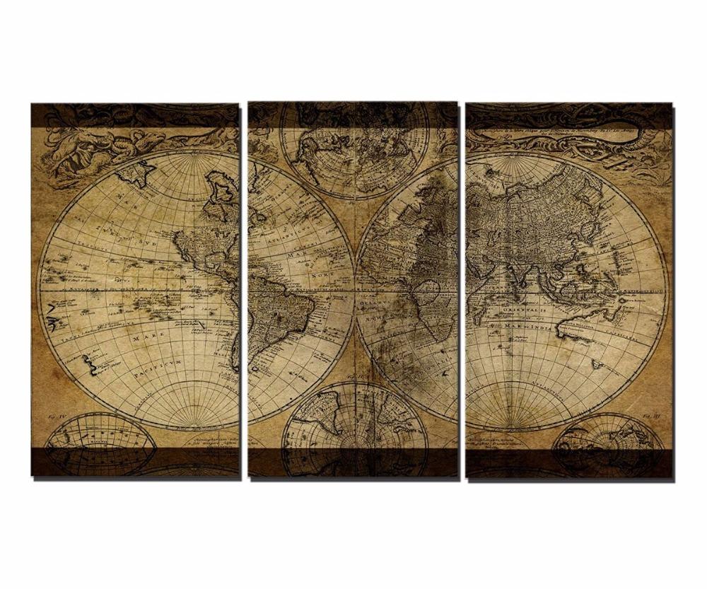 impresiones de la lona clsica mapa del mundo unidades de estilo moderno barato pictures decorativo