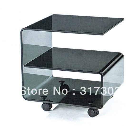 Tavolino accanto divano, tè di vetro tavoli con ruote, sgabello ...