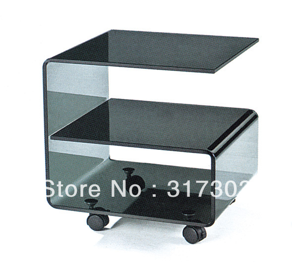 Small Table Beside Sofa, Glass Tea Tables With Wheel, Stool Livingroom  Furniture,coffee