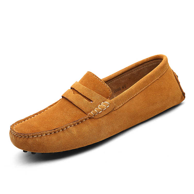 82e336a35dbe1 ... Genuine Leather Men Shoes Suede Leather Men Loafers Soft Plus Size  Autumn Mens Shoes Casual Shoes ...