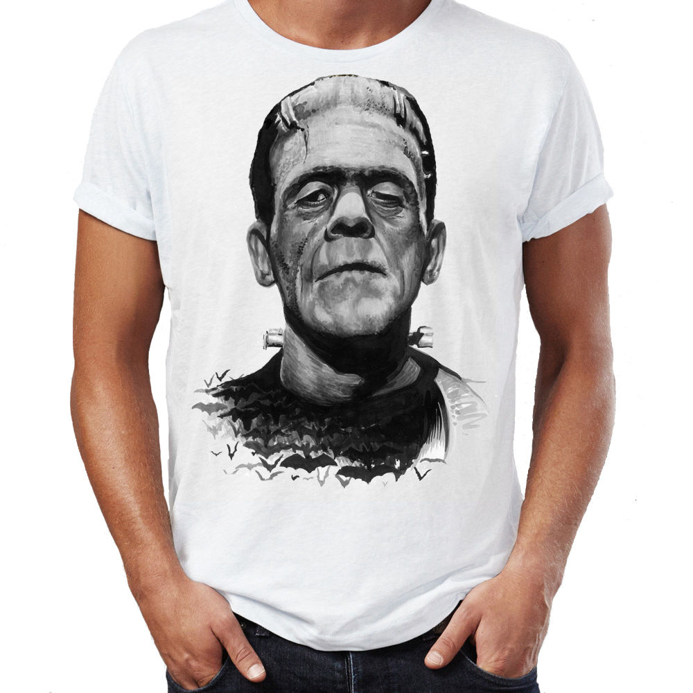 frankenstein horror story addams zombie dead movie scary halloween mens t shirt 2017 summer mens brand - Story Of Halloween Movie