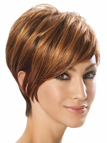 2015 straight hair Synthetic wigs Brown Short full for women Fashion peruca wig with bangs pelucas sinteticas