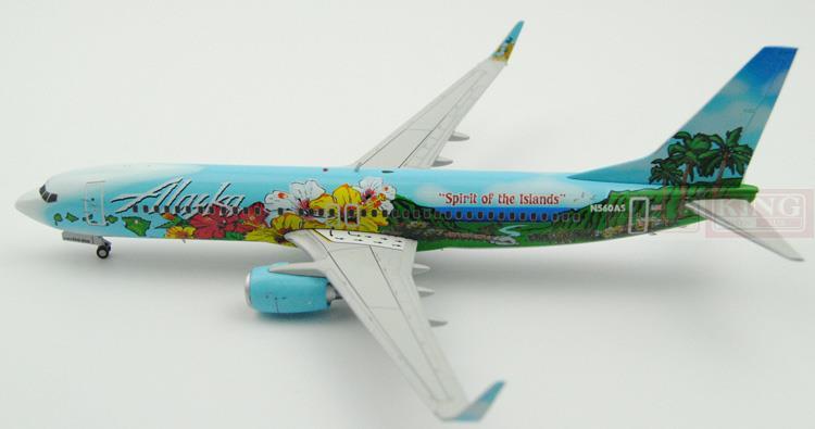 GeminiJets Alaska Airlines G2ASA399* 1:200 B737-800/w commercial jetliners plane model hobby
