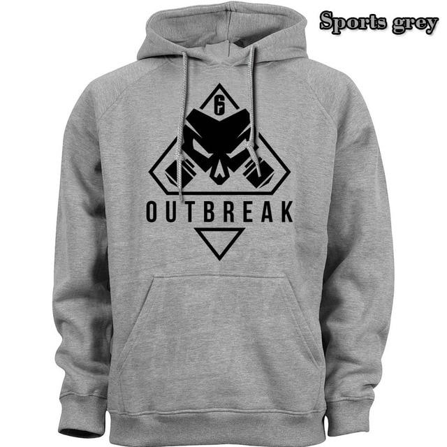 new Rainbow Six Siege Operation Chimera Logo Men Hoodies Sweatshirts Gaming R6 Siege Operation Outbreak Outerwear Hoody Casual 5