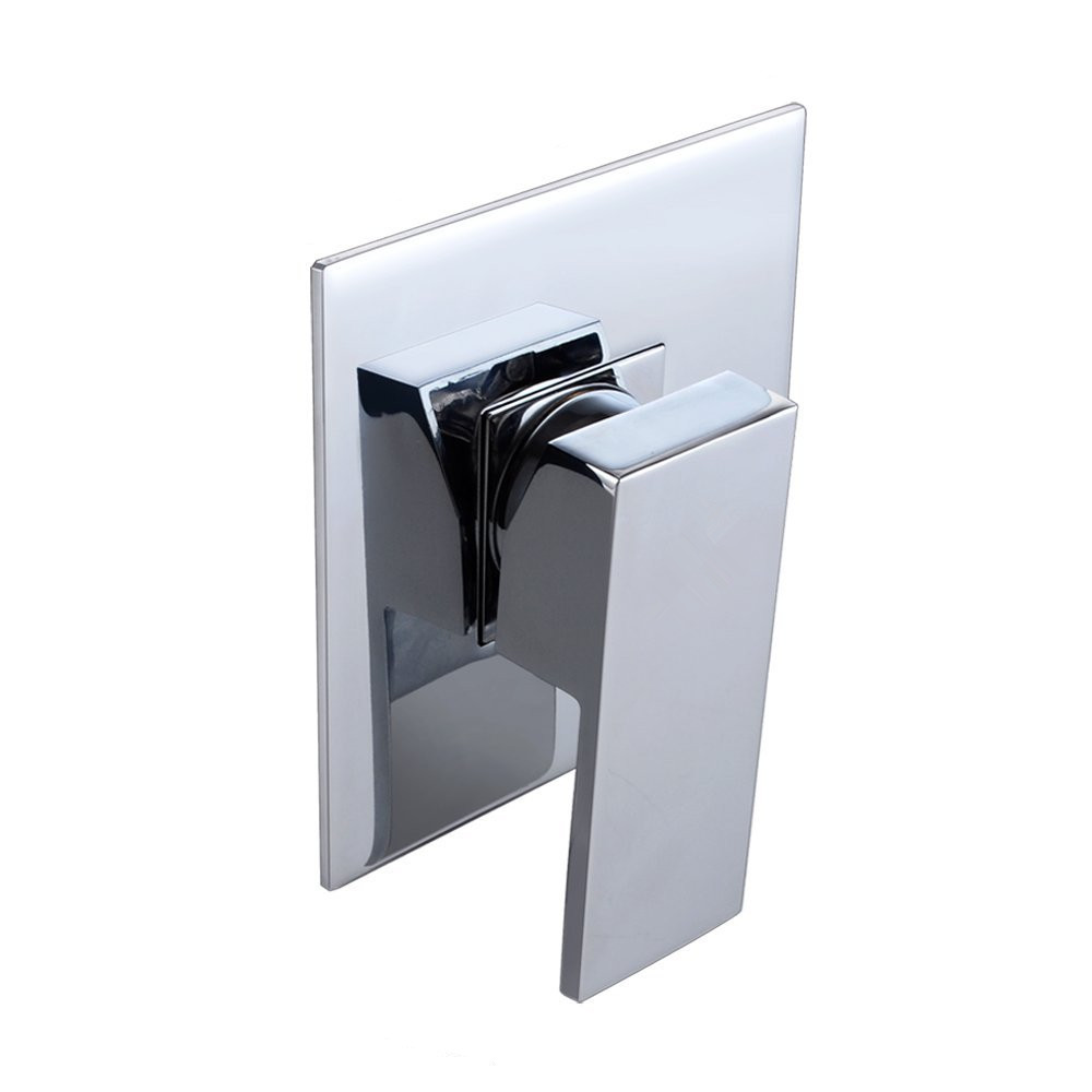 Bathroom Rough in Valve Shower Trim Single Handle Concealed Shower System Control Square 1/2 Inch IPS Connector In Chrome-in Shower Faucets from Home Improvement    2