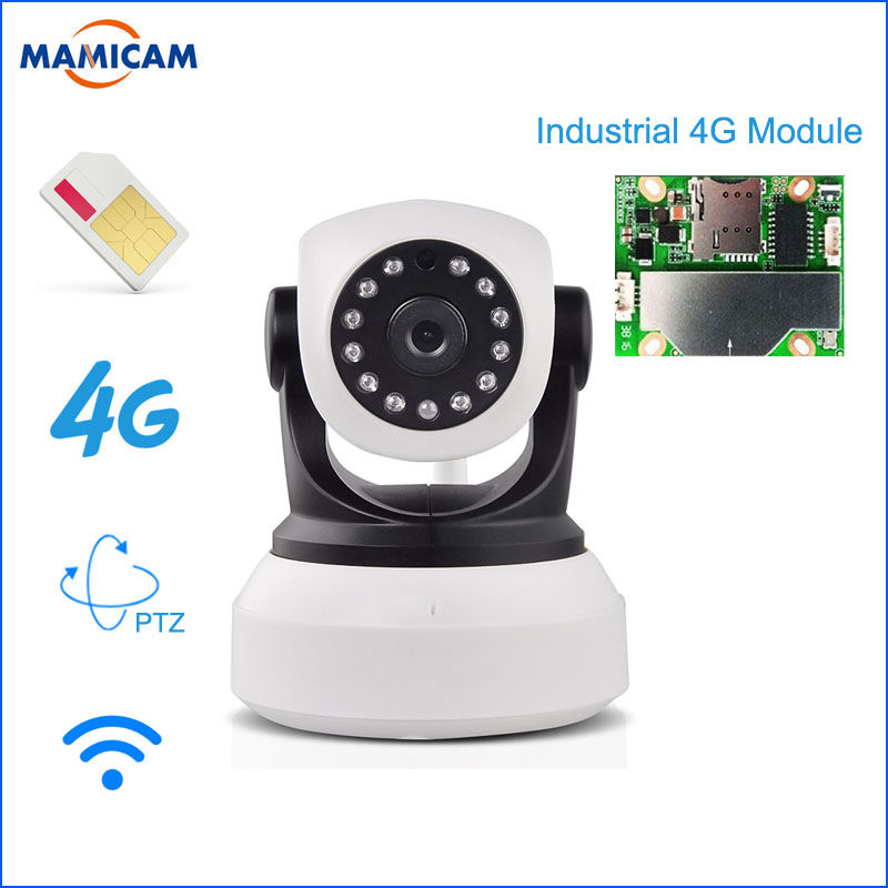 960P HD 3G 4G SIM Card IP Camera Wireless Cam PTZ Pan Tilt Video Camera GSM P2P Network Wireless Wifi Home Security Motion