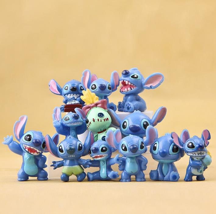 12pcs/set BOHS Mini Anime Cartoon Lilo & Stitch PVC Action Figures Toys Dolls Child Toys Gifts цена и фото