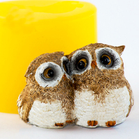 Zwierzęta formy Dwie sowy piękny sowa kształt formy silikonowe formy formy do mydła handmade candle formy