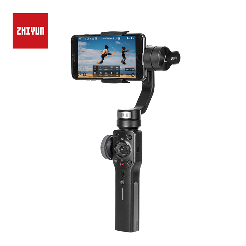 Zhiyun Smooth 4 3 Axis Handheld Gimbal Stabilizer for iPhone X Samsung S9 Huawei P20 Pro