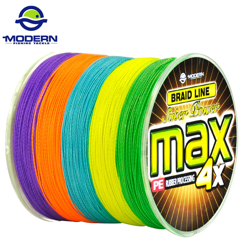 300M MODERN Carp Fishing Line MAX Series Multicolor 10M 1 Color Mulifilament PE Braided Fishing Rope 4 Strands Braided wires