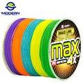 300 M modernas de pesca marca MAX serie multicolor 10 M 1 Color mulifilament PE trenzada línea de pesca 4 hebras trenzadas cables
