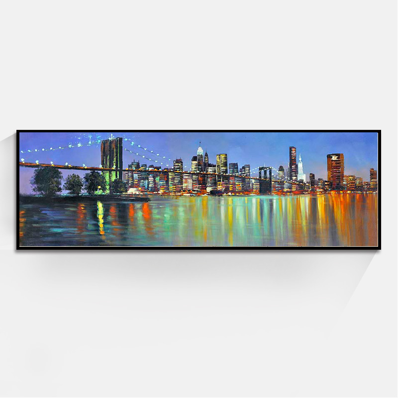 Long Style Beautiful City Landscape Paintings Wall Art Oil Painting Home Decoration Bedroom Living Room Canvas Unframed In Calligraphy