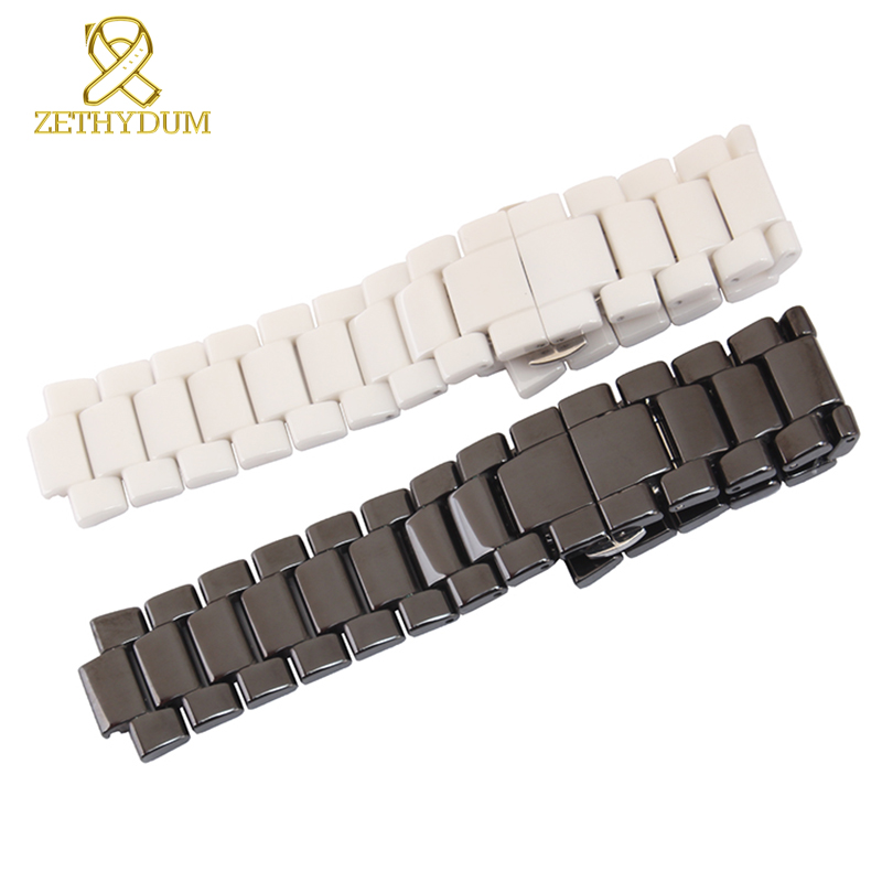 ceramic watchband Convex mouth 19mm 22mm watch strap Butterfly Buckle bracelet band for AR1424 AR1421 AR1425 AR1426 AR1456 digoo dg bb 2hc durable double head 30cm usb charging power cable for dg mx10 tws wireless waterproof speaker