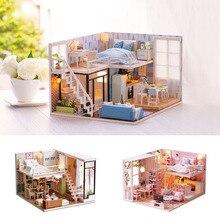 Миниатюрный Diy Кукольный дом 3D креативный деревянный ручной сборки аксессуары модель кабины кровать мебель головоломки игрушки для детей