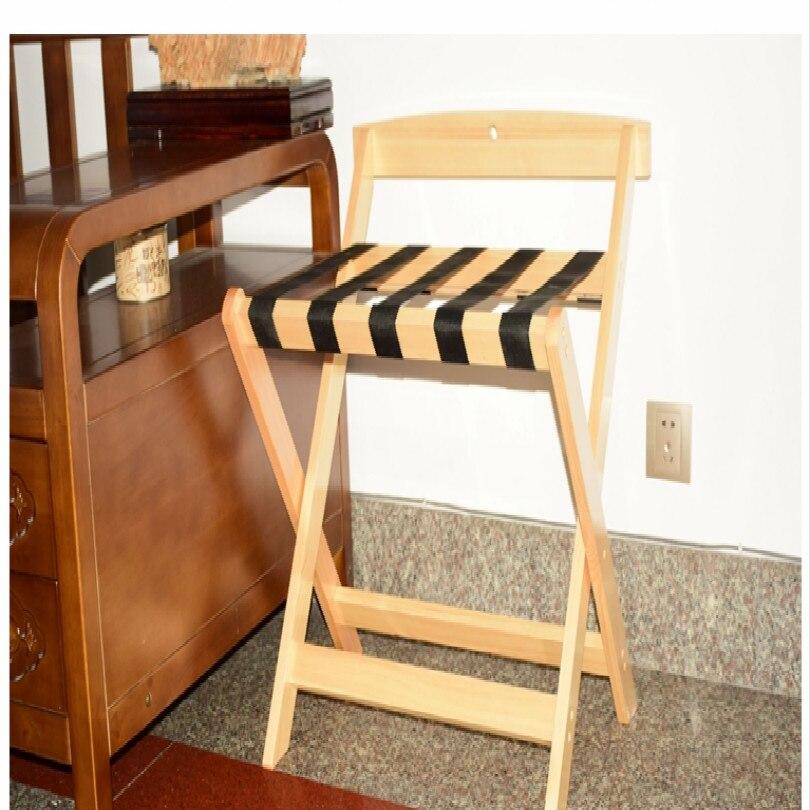 Отель деревянный багажный держатель багажный кронштейн багажная стойка Складная