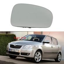 Lato destro Auto Specchio Di Vetro Per Skoda Fabia MK2 2007 2008 2009 2010 2011 2012 2013 2014 2015 Specchio di Vetro riscaldata