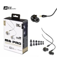 M6 PRO noise-Isolating Hifi Audiophile In ear Earphone MEE M6 PRO HiFi In-Ear Monitors Earphones with Detachable Cables and box