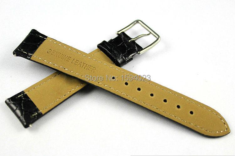18mm (Buckle16mm) T52 T57 Yüksek Kalite Gümüş Toka + Siyah Hakiki - Saat Aksesuarları - Fotoğraf 4