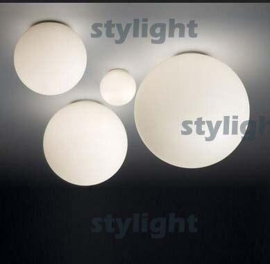 Dioscuri parete ceiling lamp soffitto ceiling lighting living room dinning room modern design white glass falmec quasar top parete 90 ix 800