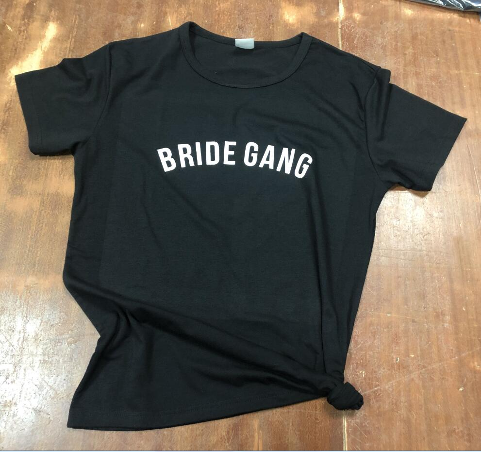 5fa54fffbb Bachelorette Party Shirt BRIDE GANG T-Shirt Tumblr Bridesmaid Gift Clothing  Bride Squad Tee Bachelorette tshirt Girl Gang Outfit