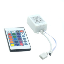 цена на 24 Keys LED RGB Controller DC12V 6A IR Remote Controller for SMD 3528 5050 RGB LED Strip Lights for Indoor or Outdoor Decoration