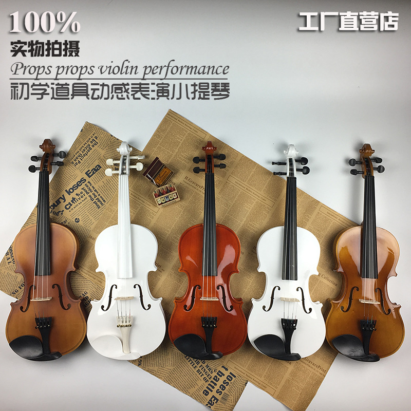Quality Basswood Violin Musical Stringed Instrument  4/4 Violin for Beginner Lovers Kids  Stage Decorations  5 ColorsQuality Basswood Violin Musical Stringed Instrument  4/4 Violin for Beginner Lovers Kids  Stage Decorations  5 Colors