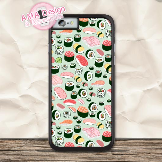 Lovely Many Japanese Sushi Protective Case For iPhone X 8 7 6 6s Plus 5 5s SE 5c 4 4s For iPod Touch