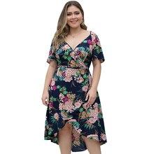 Ladies Loose Printed Pleated Dress Women Fashion Festival Three Quarter Lantern Sleeves Dress недорого