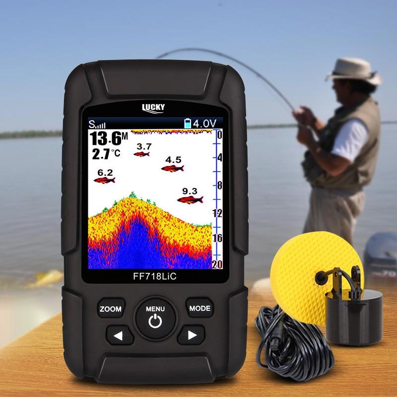 CHANCEUX FF718LiC-T 2.8 Couleur LCD Portable Fish Finder 328ft/100 m Profondeur De Détection Finder