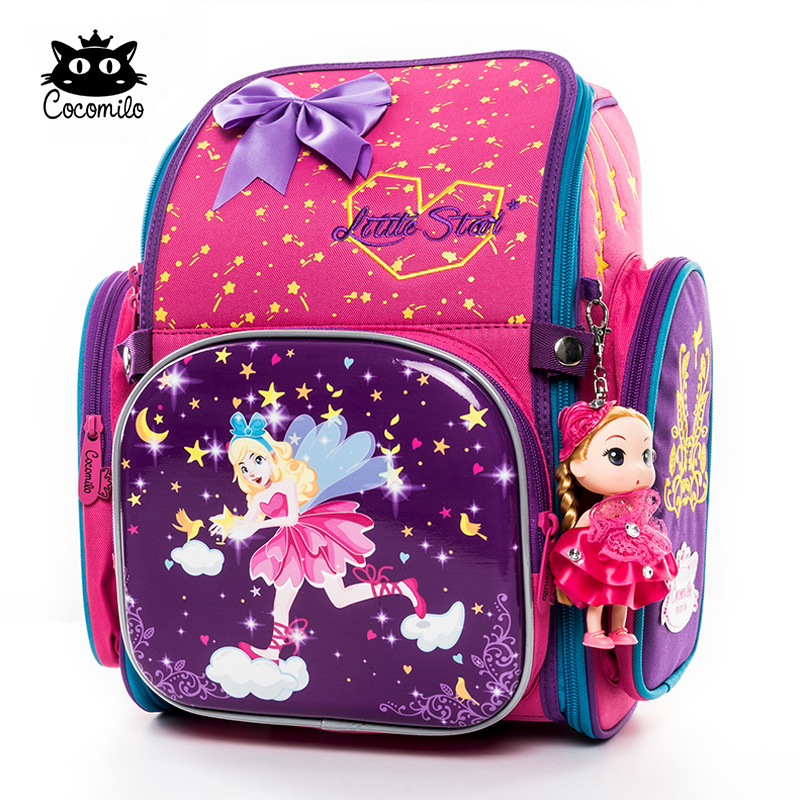Cocomilo 2019 Children School Backpack For Girls Boys Cartoon Dinosaur School Bag Orthopedic Backpack Mochila Infantil Grade 1-3