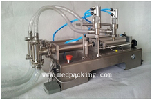 5-100ml Double Head Pneumatic Softdrink Liquid Filling Machine YS-220v GRIND