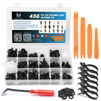 MICTUNING 456pcs Car Retainer Clips Auto Plastic Fasteners Kit Fastener Remover Removal Puller Pry Tool Set Door Trim Panel Clip
