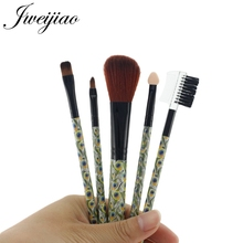 JWEIJIAO Peacock Handle Pro 5Pcs Makeup Brushes Set Eye Shadow Foundation Powder Eyeliner Eyelash Make Up Brush Cosmetic Tool