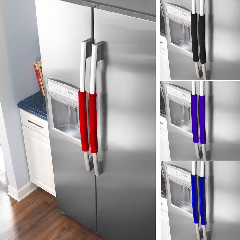 2 pcs kitchen appliance handle cover decor smudges door refrigerator fridge oven