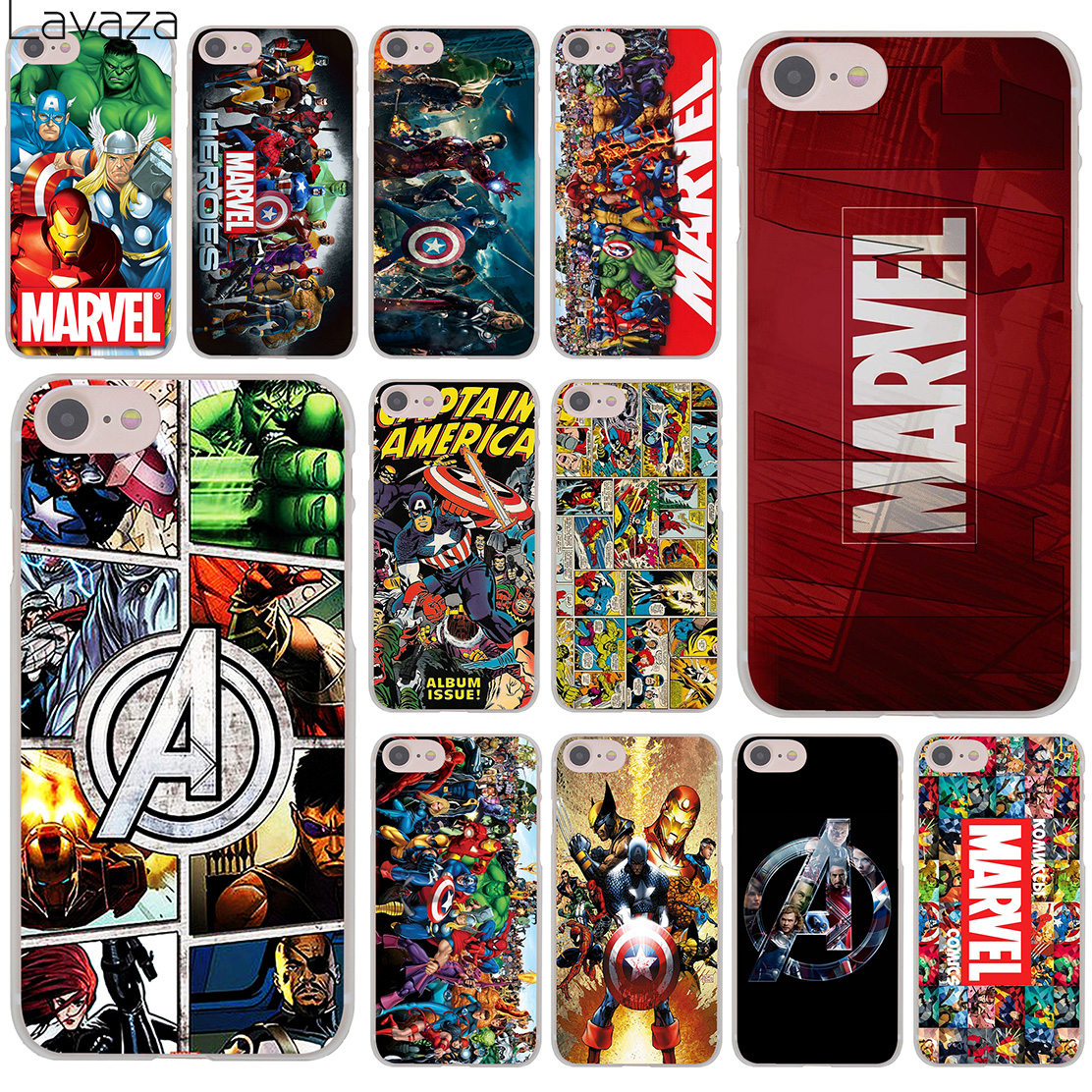 Marvel Superheroes The Avengers Hard Transparent Case Cover for iPhone 7 7 Plus 6 6S Plus 5 5S SE 5C 4 4S marvel