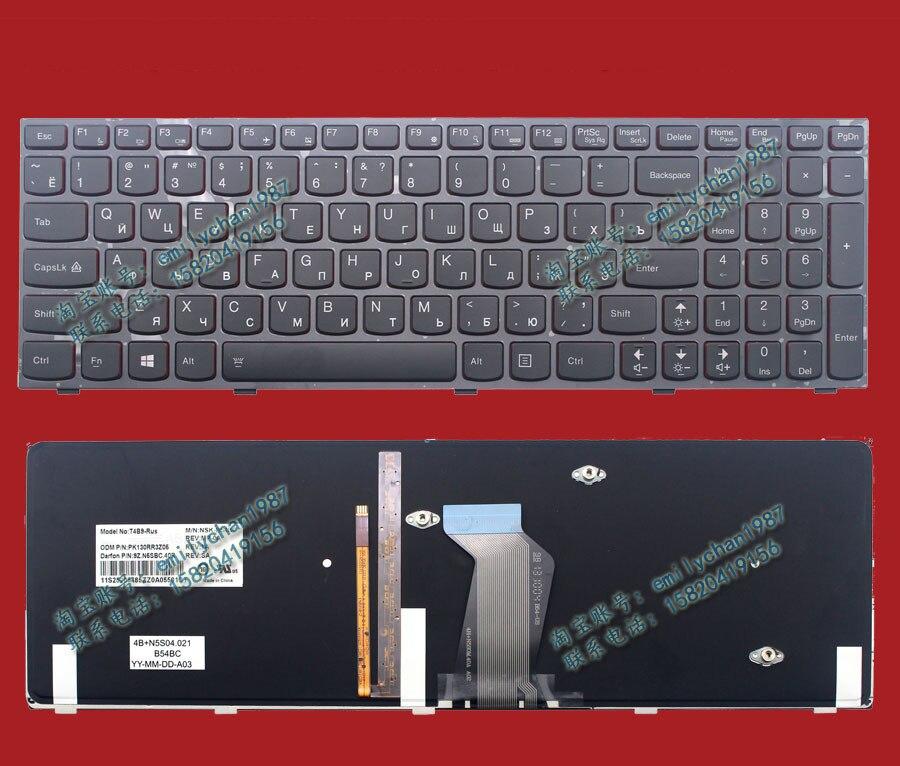 New Original For LENOVO Y500 Y510p With Backlight Laptop Keyboard RU Standard Good Working