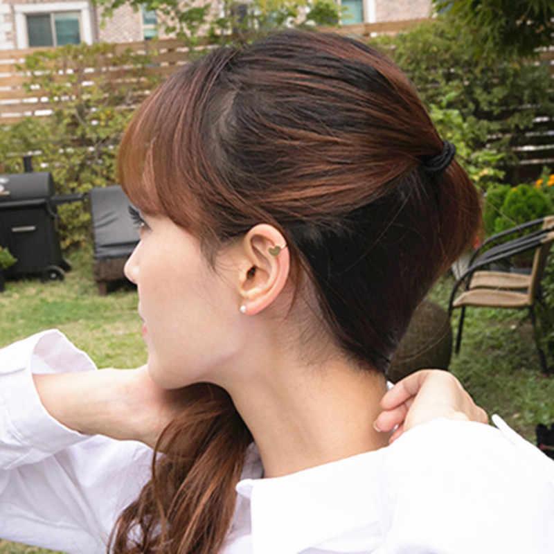 Phong Cách Thời Trang Trái Tim Tam Giác Trăng Sao Tai Đeo Kẹp Trên Bông Tai Nữ Cô Gái Cưới Trang Sức Vô Hình Mà Không Xuyên Thủng Tai