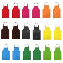 Verdicken Baumwolle Polyester Mischung Anti-tragen Anti Fouling Kochen Küche Restaurant Bib Schürze Mit Taschen