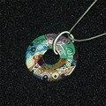 Collares de cadena de plata del color del collar y colgantes para las mujeres joyería choker declaración collier femme bijoux esmalte de la vendimia de bohemia