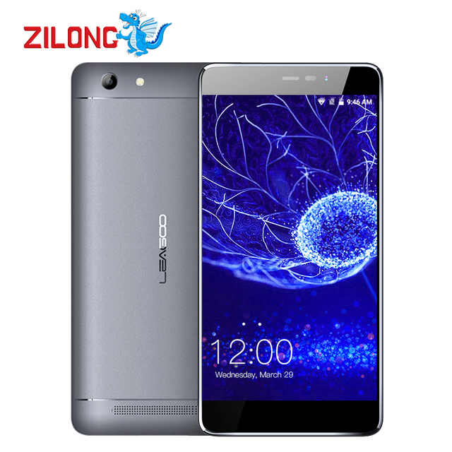 LEAGOO Shark 5000 Mobile Phone 5.5 inch HD IPS MT6508A Quad Core Android 6.0 13MP 1GB RAM 8GB ROM 5000mAh Big Battery Smartphone