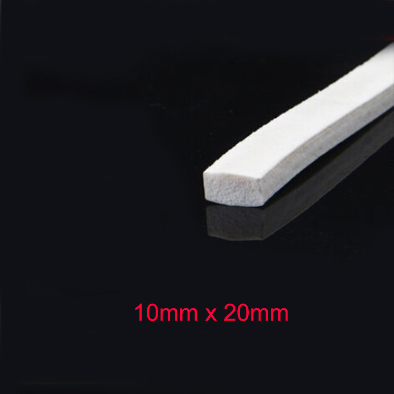 10mm x 20mm white high temperature resistant silicone rubber foam sealing strips