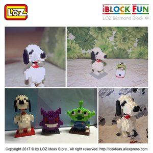 Image 5 - LOZ Diamant Blöcke Hund Modell Cartoon Tiere Spielzeug Set Action Figure Kunststoff Mirco Ziegel Kinder Montage Spielzeug für Kinder DIY 9330