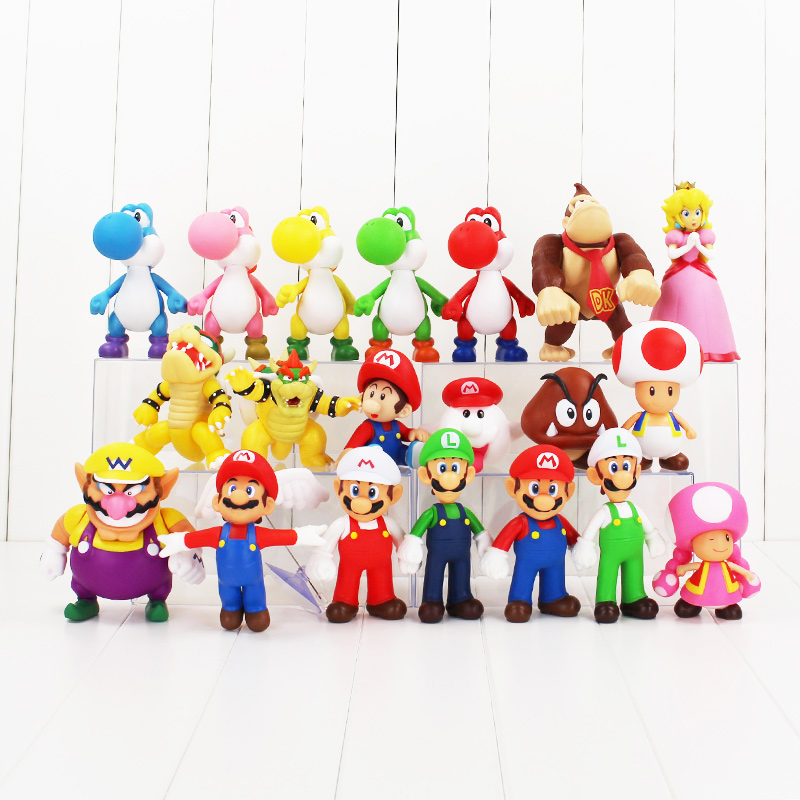 Super Mario Odyssey Golden Repairman Mario Luigi Action Figure PVC Toy Model 5/'/'