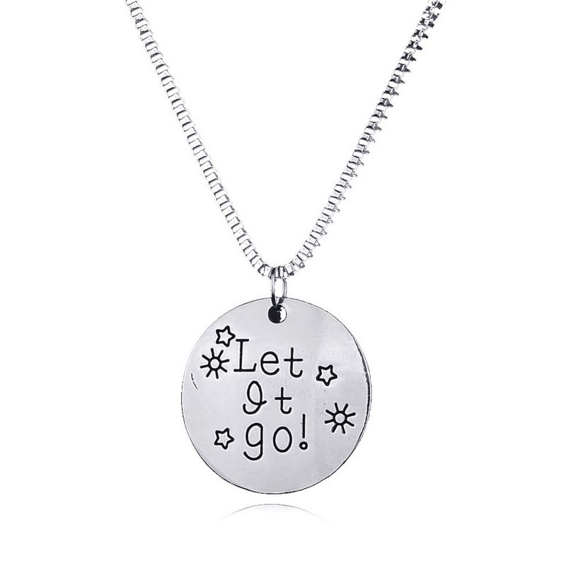 New Arrival Fashion Statement Necklace Let it goLetter sun star chain necklace men women pendant necklace Jewelry gift