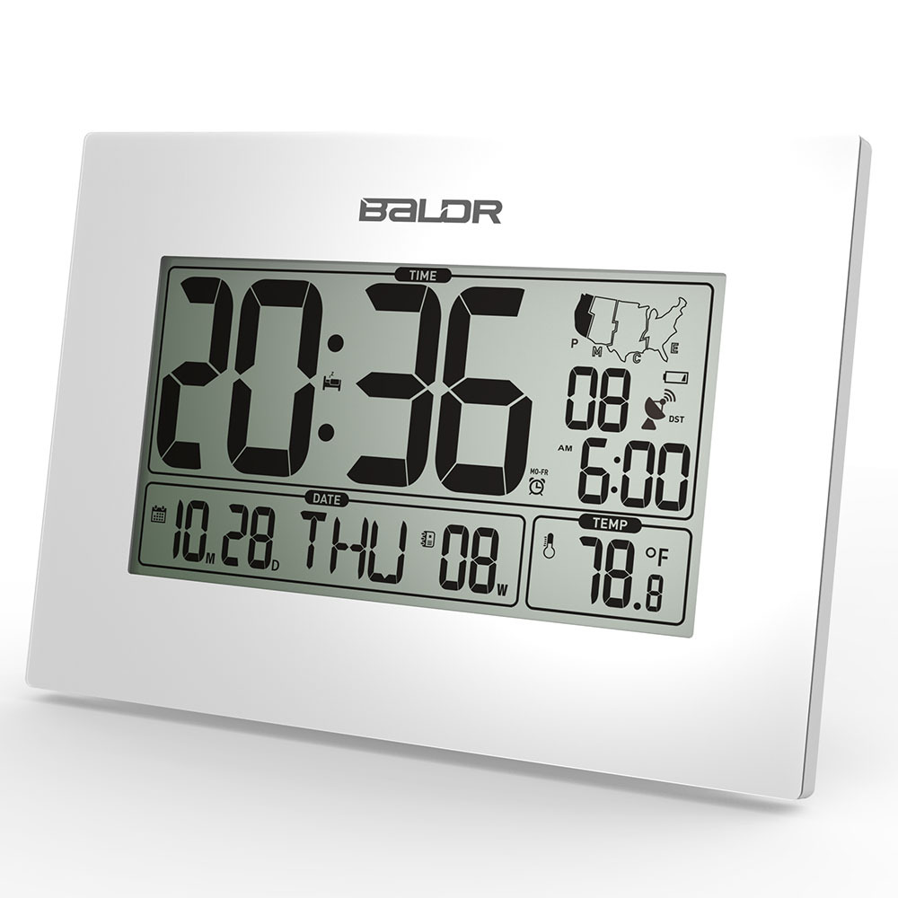 Baldr wwvb atomic digital alarm clock pmce time zone date baldr wwvb atomic digital alarm clock pmce time zone date temperature display office desk thermometer snooze timer wall clocks in alarm clocks from home amipublicfo Choice Image