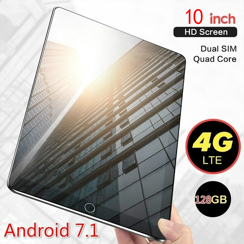 Andriod 7.1 Ten Core  10.1 Inches Large 1280*800 IPS Screen Original Dual SIM 3G Phone Tablet PC WIFI RAM+16/64/128G ROM Tablet