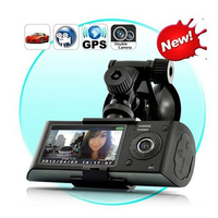 Car DVR R300 with GPS and 3D G Sensor 2.7 TFT LCD X3000 Cam Video Camcorder Cycle Recording