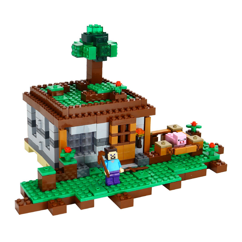 New Lepin Model building kits compatible 21115 my worlds MineCraft The first night Educational toys hobbies for children bricks уэллс г война миров the war of the worlds