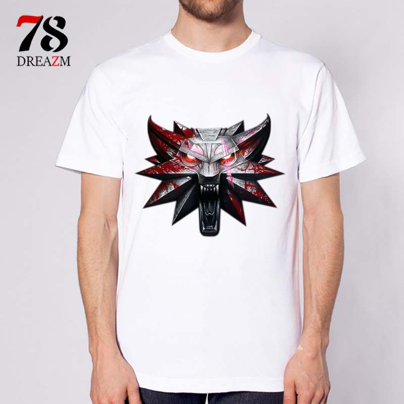 The witcher 3 t shirt men film 2017 new funny design t for T shirt design 2017