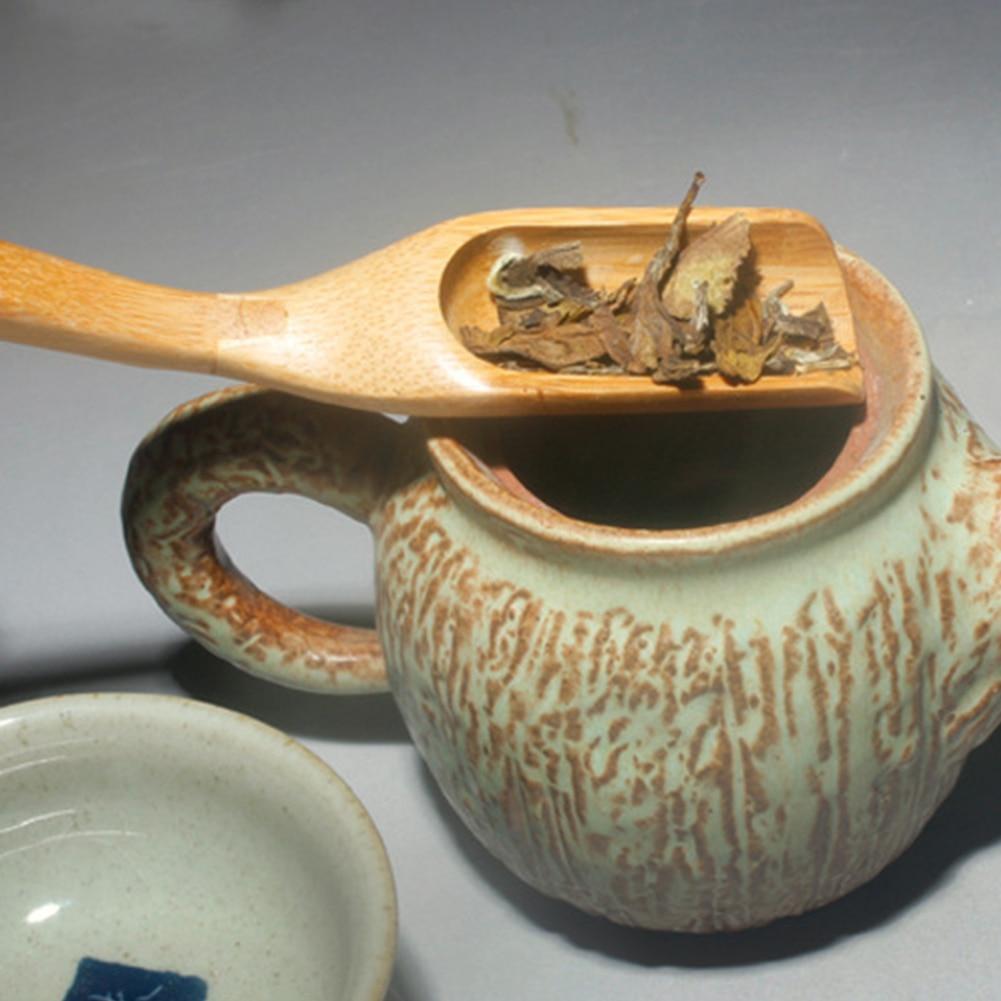 Инструмент кунг-фу ложка чайная церемония кофейный порошок матча Экологичная бамбуковая лопатка чайная ложка сшитый аксессуар